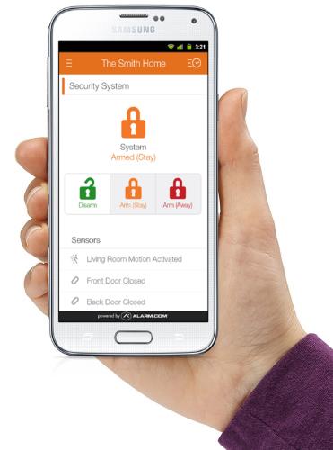 Alarm.com Interactive Security app